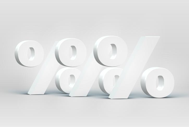 Högt detaljerade 3D teckensnitt tecken, vektor illustration