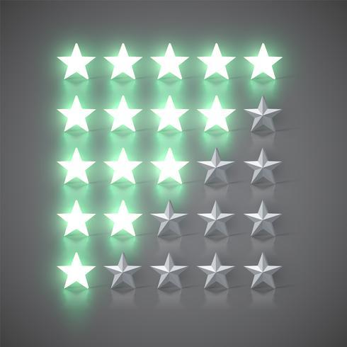 1 à 5 étoiles, illustration vectorielle