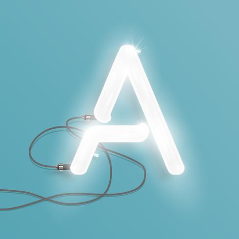 Personnage réaliste néon d'un ensemble, illustration vectorielle