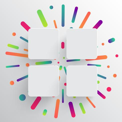 Ren och färgstark mall för reklam med blå pilar, vektor illustration