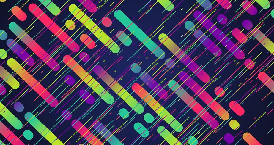 Fondo de rayas de colores, ilustración vectorial