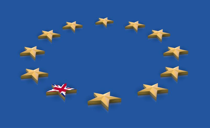 Illustration for BREXIT - Great Britain leaving the EU, vector