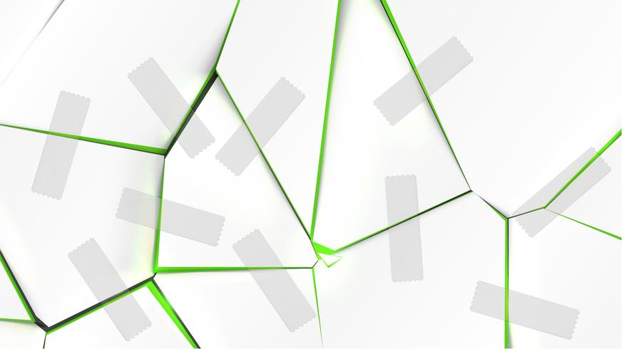 Superficie rotta variopinta con nastri, illustrazione vettoriale