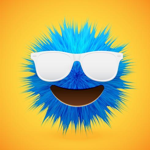 Emoticon smiley de piel de alto nivel 3D, ilustración vectorial