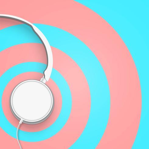 Casque de couleur pastel avec cercle divisé en 3D réaliste vecteur