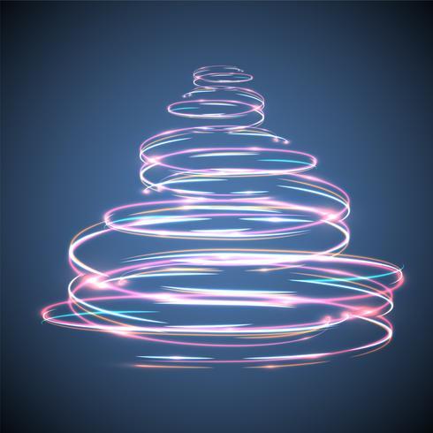 Glühender und funkelnder Weihnachtsbaumeffekt für die Werbung