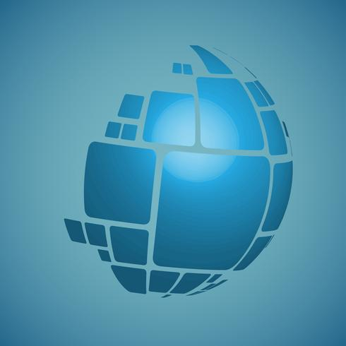 Ilustración de diseño de vector de globo 3D para publicidad