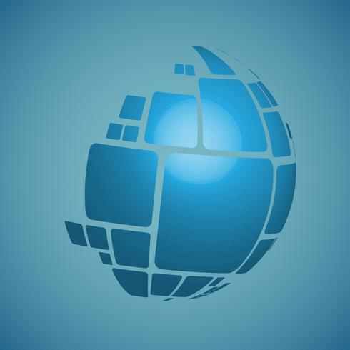 Designillustration des Vektors 3D der Kugel für die Werbung