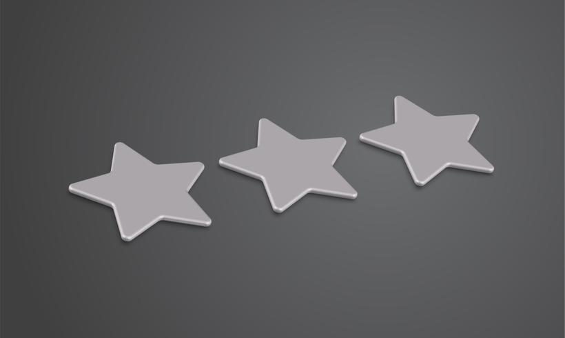 Valutazione o fondo della stella 3D, illustartion di vettore