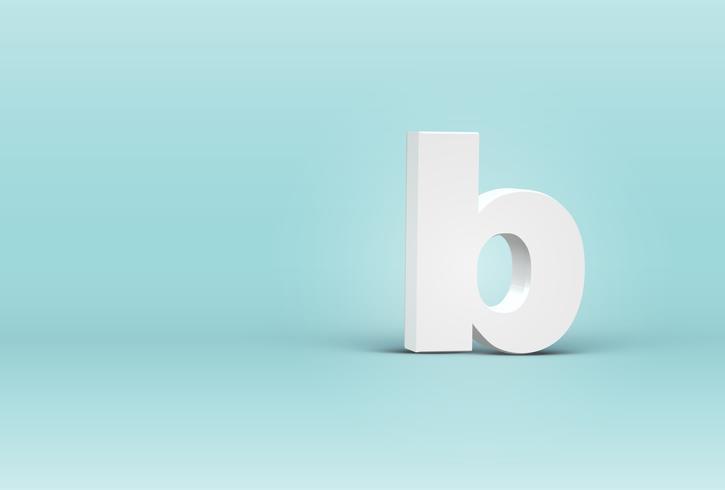 Hoher ausführlicher Brief des Gusses 3D, Vektorillustration