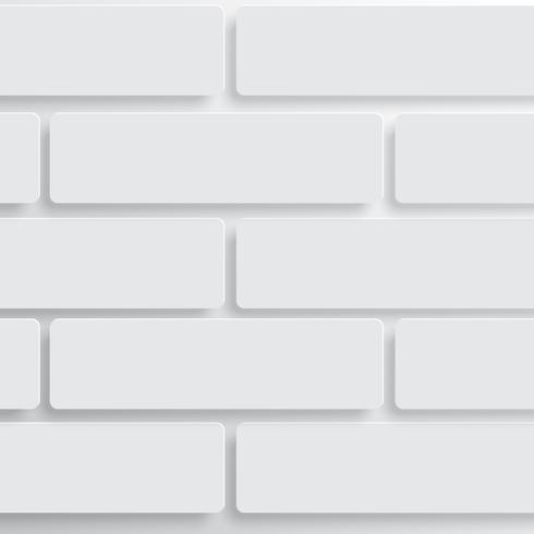 Parede de tijolos brancos, vetor