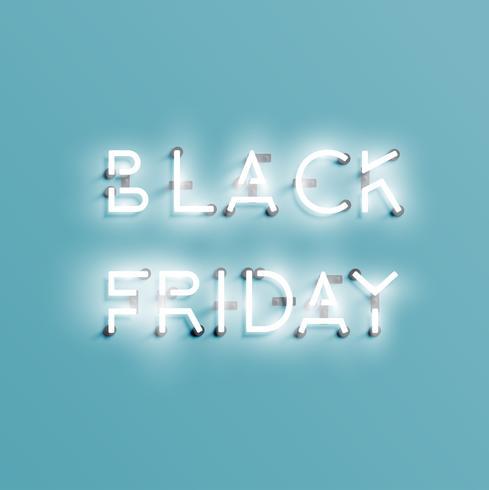 Realistic neon 'BLACK FRIDAY' sign, vector illustration