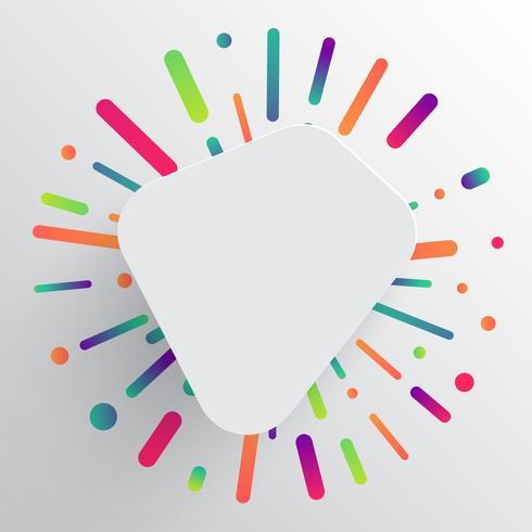 Modello pulito e colorato per la pubblicità con le frecce blu, illustrazione vettoriale
