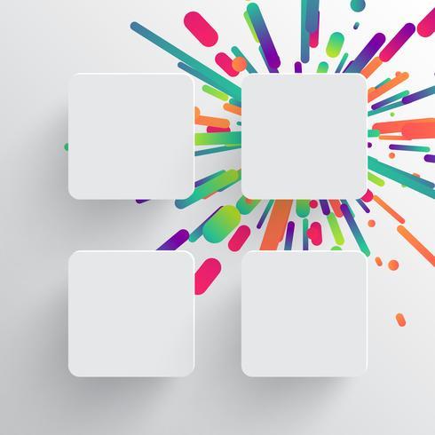Modelo em branco colorido para publicidade, ilustração vetorial