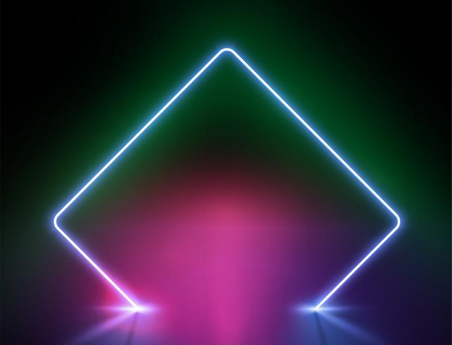 High-detailed neon light background, vector illustration