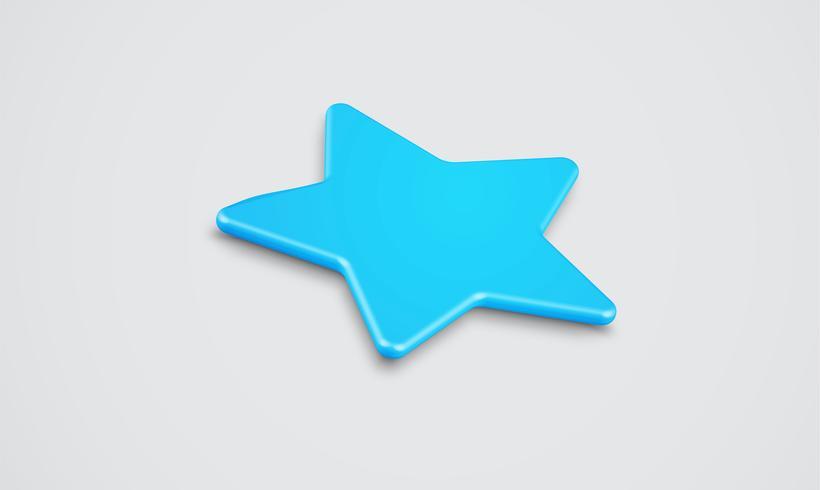 Clasificación 3D de estrellas o de fondo, ilustración vectorial