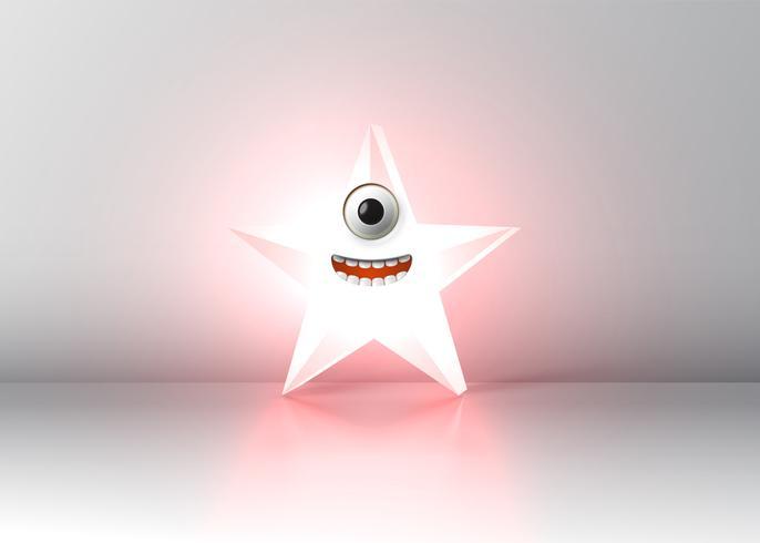Estrela de alta detalhadas smiley, ilustração vetorial