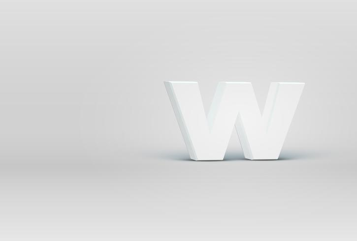 Hoog gedetailleerd 3D doopvontkarakter, vectorillustratie