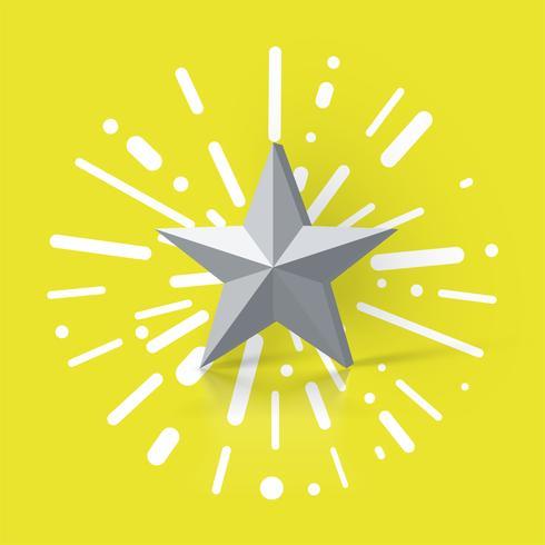Illustrazione variopinta con una valutazione della stella, illustrazione di vettore