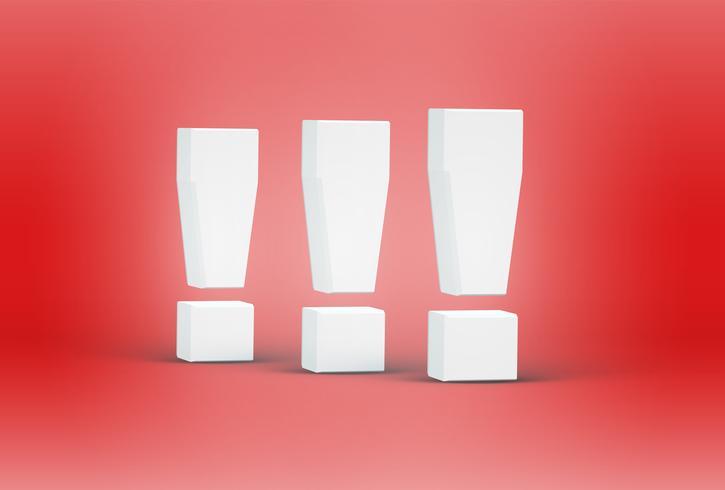 Hohe ausführliche Zeichen des Gusses 3D, Vektorillustration