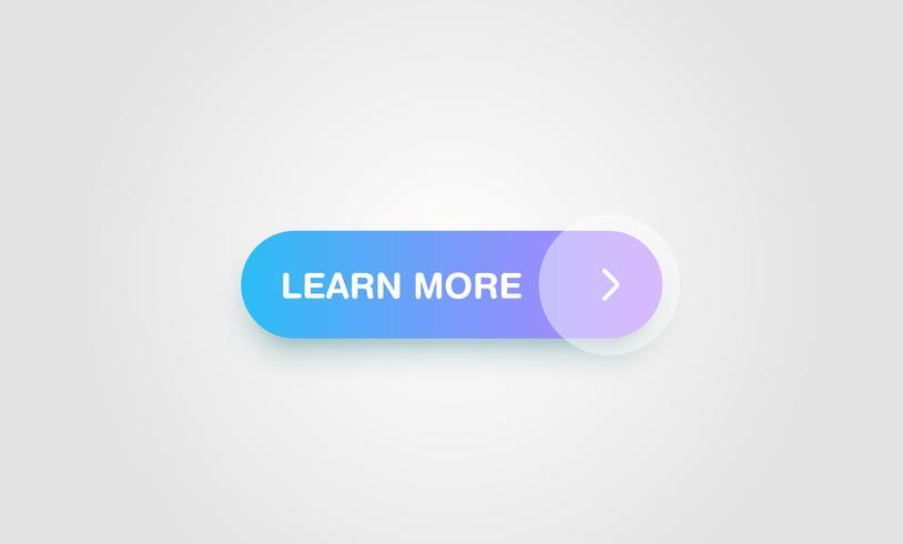 Bouton coloré brillant et propre pour les sites Web et l'utilisation en ligne, illustration vectorielle