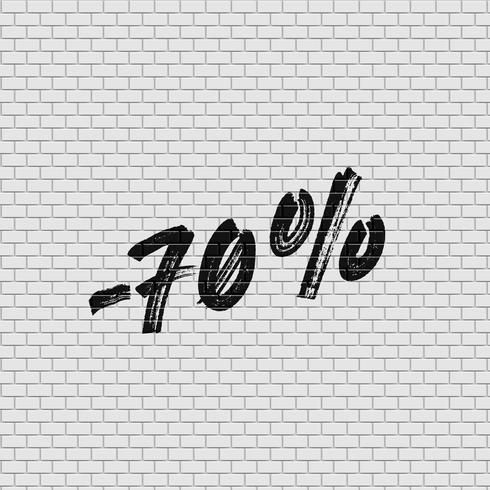 Mur de briques détaillé élevé avec pourcentage, illustration vectorielle
