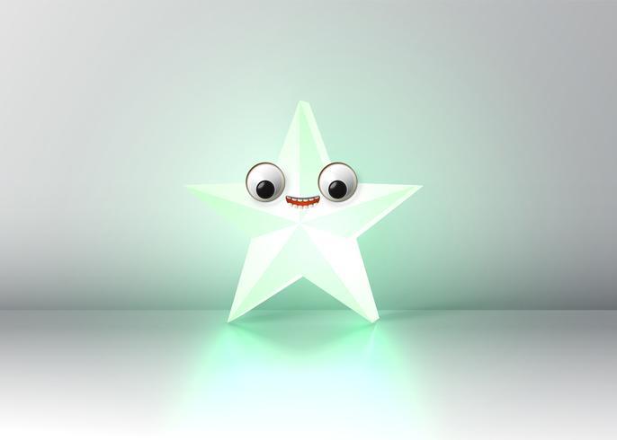 Estrela de alta detalhadas smiley, ilustração vetorial vetor