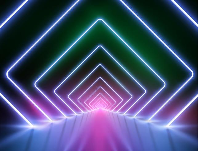 Hoch-ausführlicher Neonlichthintergrund, Vektorillustration