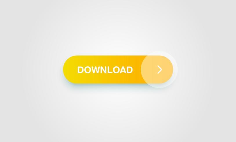 Botón brillante y limpio colorido para sitios web y uso en línea, ilustración vectorial vector