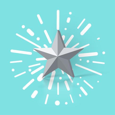 Ilustração colorida com uma classificação por estrelas, ilustração vetorial
