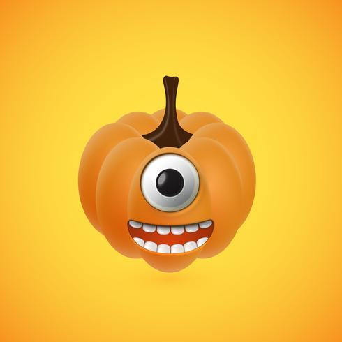 Lustiges Halloween-Kürbisgesicht für Kinder, Vektorillustration
