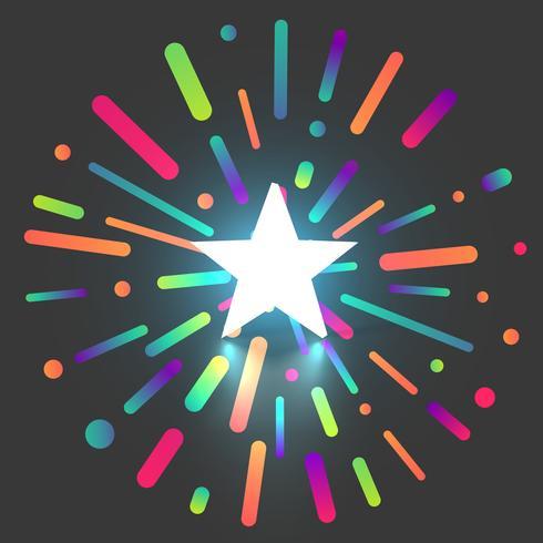 Fundo brilhante colorido da avaliação da estrela, ilustração do vetor