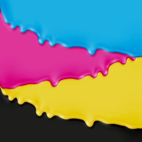 Pintura realista CMYK, ilustración vectorial