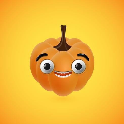 Drôle de citrouille d'halloween pour les enfants, illustration vectorielle