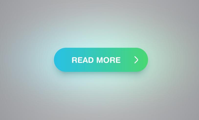 Bunter glänzender und sauberer Knopf für Website und Online-Gebrauch, Vektorillustration
