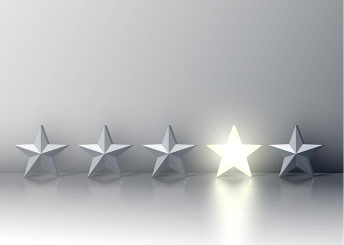 Démarquez-vous de la foule des étoiles grises, illustration vectorielle