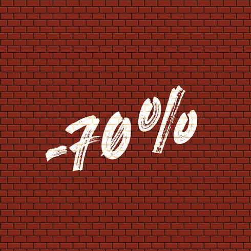 Hohe ausführliche Backsteinmauer mit Prozentsatz, Vektorillustration