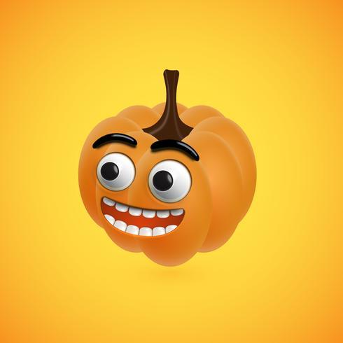 Cara de calabaza de halloween divertido para niños, ilustración vectorial vector