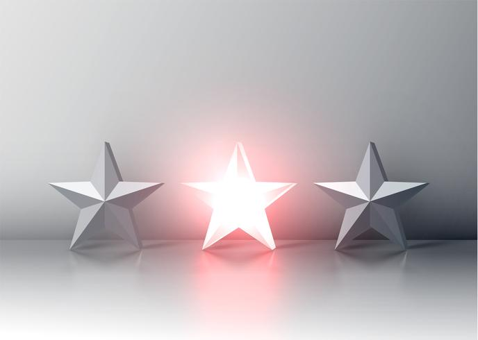 Rougeoyante classement 3D en 3D, illustration vectorielle