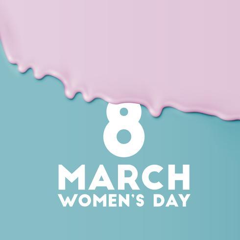 Vektorhintergrund für den Tag der internationalen Frauen - 8. März