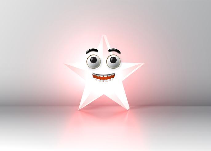 Hoher ausführlicher smileystern, vektorabbildung