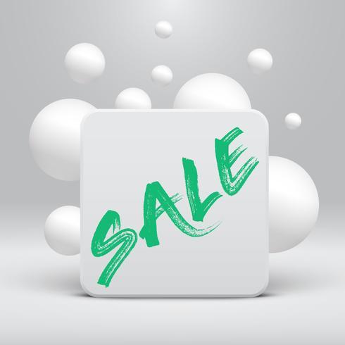 Schoon sjabloon met 'Sale' titel en bubbels, vectorillustratie