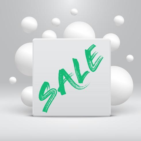 Pulire il modello con il titolo 'Sale' e bolle, illustrazione vettoriale