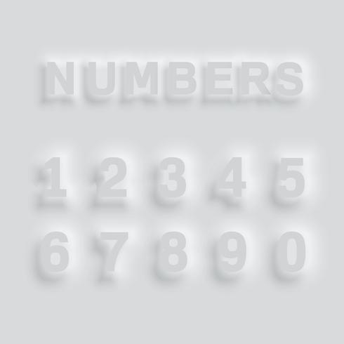 Gray bulging typeface, vector
