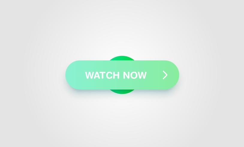 Botão brilhante e limpo colorido para sites e uso on-line, ilustração vetorial