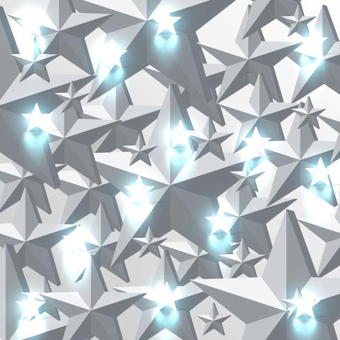 Stelle grige e d'ardore delle stelle blu, illustrazione di vettore