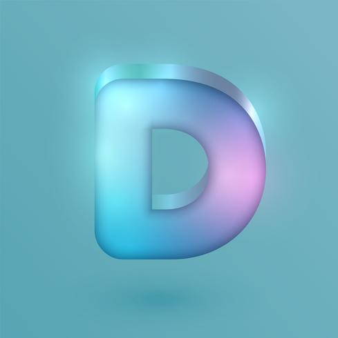 Personnage de néon réaliste 3D, vector