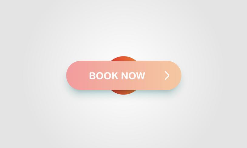 Kleurrijke glanzende en schone knop voor websites en online gebruik, vectorillustratie
