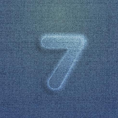 Zeichen von Denim, von einer Schrift, Vektor