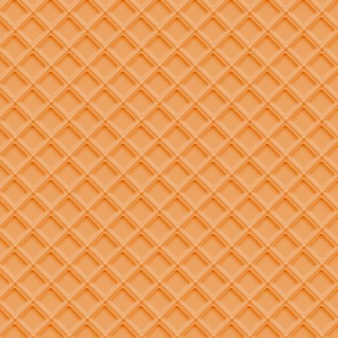 Realistic waffle background vector